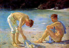 Aquamarine by Henry Scott Tuke (classic male art print)