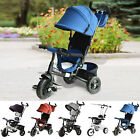 Kids Tricycle Trike Children Smart Toddler Ride on 3 Wheels Canopy Handle Safety
