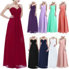 Long Chiffon Women's Cocktail Party Evening Prom Bridesmaid Formal Dress 4-16