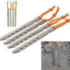 4/8pcs 16cm Titanium Outdoor Hiking Camping Trip Tent Peg Ground Nail Stakes