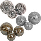 3 Crackle Balls Ornament Modern Sculpture Indoors/Outdoors Decoration NEW