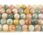Pink Beryl Morganite Multi Stone Round Gemstone Beads~Guaranteed