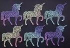 Extra Large Unicorn Die Cuts - Sets of 6 in Assorted Colours