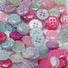 20/50pcs 4 Holes Resin Sewing Buttons Scrapbook Candy Color Cloths DIY 15mm
