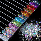 Laser Rhombus Nail Glitter Paillette Colorful Nail Art Sequins Flakes Decoration