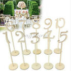 1-20 Wooden Table Numbers Stick Set with Base for Wedding Conference Party Decor