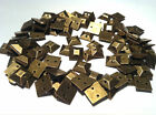 100 x SQUARE PYRAMID Acrylic BRASS sew on, stitch on, stick on STUDS, Gems