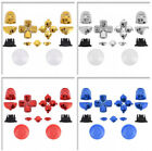 Custom Chrome Full Set Kit Buttons Trigger Thumbsticks for PS4 Controller Repair