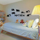CONSTRUCTION TRUCKS personalised vinyl decals bedroom wall stickers