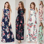 Women's BOHO Long Evening Party Cocktail Prom Floral Summer Beach Maxi Dress Hot