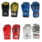 Zooboo Authorized Adult Faux Leather Tiger Print Bag Mitts Boxing Gloves 10oz