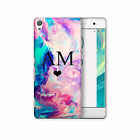 HAIRYWORM PERSONALISED INITIALS HARD PLASTIC PHONE CASE FOR SONY XPERIA, EXPERIA