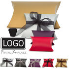 12x Premium Pillow Wedding Favour Party Gift Boxes, 3 Sizes, 6 Colours