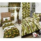 ARMY CAMP CAMOUFLAGE TANKS DUVET COVERS MATCHING CURTAINS WALLPAPER BORDER BOYS