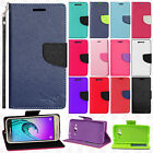 For Samsung Galaxy Sky Premium Leather 2 Tone Wallet Case Pouch Flip Phone Cover