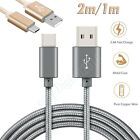 2M/1A Strong Braided Heavy Duty USB C Type-C Data Snyc Charger Charging Cable