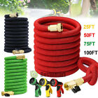 Deluxe 25 50 75 100 Ft Expandable Flexible Garden Water Hose w/ Spray Nozzle