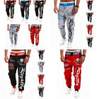 HOT Mens Jogger Pants Print Harem Pants  Outdoors Sweat Trousers Sports Wear