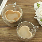 180/240ml Heart Latte Glasses Tea Coffee Cappuccino Glass Cups Hot Drink Mugs