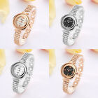 Women Luxury Rhinestone Simple Case Series Beads Band Quartz Analog Wristwatch