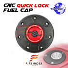 FRW BK RD CNC Quick Lock Fuel Cap For Kawasaki ZX 6E 93-01 94 95 96 97 98 99 00