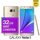 [NEW SEALED BOX] SAMSUNG GALAXY NOTE 5 4G LTE UNLOCKED PHONE + WTY BLACK WHITE