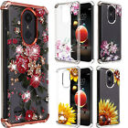 For LG Fortune M153 Hard Gel Rubber KICKSTAND Case Phone Cover +Screen Protector