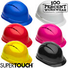 Supertouch ST-50 HDPE Work Safety Helmet Hard Hat Construction Industry Builders