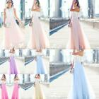 HOT Women Girls Dress Chiffon Long Dress Sleeveless Tops Evening Party Sundress