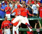 Rougned Odor & Elvis Andrus Texas Rangers MLB Action Photo UE053 (Select Size)