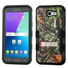 Samsung Galaxy Express Prime 2 Rubber IMPACT TUFF Hybrid KICKSTAND Case Cover