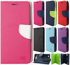 For LG Fiesta L64VL Premium Leather 2 Tone Wallet Case Pouch Flip Phone Cover