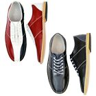 NEW MENS RETRO MOD BRITPOP NORTHERN SOUL BOWLING SHOES Madcap England R/W/B