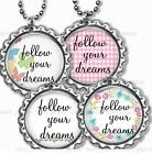Follow Your Dreams Children's Bottle Cap Necklace & Chain Handcrafted Jewelry