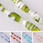 Lot Bulk 2/5pcs 32x12mm Oval Lampwork Glass Loose Spacer Beads Jewelry Making