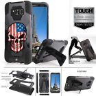 US American Flag Punish Skull Armor Cover Case For Samsung Galaxy S8 / S8 Plus