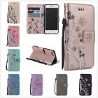 Retro Art Style Glitter Embossing Magnetic Flip Wallet Cover Case For Cellphones