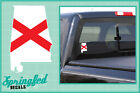 ALABAMA Shaped State Flag Vinyl Decal Car Truck Window Sticker CUSTOM SIZES