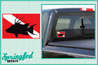 HOGFISH Shaped DIVE Flag #2 Vinyl Decal Car Truck Sticker SCUBA Diving Decal