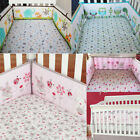 4Pcs/set Baby Infant Cot Crib Bumper Nursery Safety Protector Bedding Soft Bed