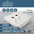 Fleecy Electric Blanket Heated Warm Fully Fitted Single Double King Queen Size