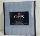 "Chaps 100% PIMA Cotton Sheet Set - 500 tc 18"" Deep Wrinkle Resistant BLUE Damask"