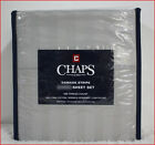 "Chaps 100% PIMA Cotton Sheet Set - 500 tc 18"" Deep Wrinkle Resistant GRAY Damask"