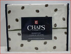 "Chaps BEEKMAN PLACE Sheet Set - 100% Sateen Cotton 18"" Deep 300 tc  IVORY Floral"
