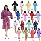 Dress DBD Thailand Silk Bath Robe Kimono Pajamas Peignoir House Coat Sleep Women