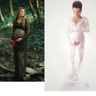 Women Sheer Lace Maternity Dresses Gown Photography Props Pregnant Photo Shoot
