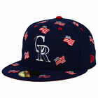 Colorado Rockies MLB July 4th Independence Day America USA Flags 5950 Hat Cap CR on Ebay