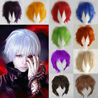 Adult Colorful Anime Wigs Short Straight Cosplay Costume Party Unisex Wig HOT