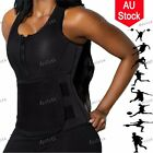 Waist Trainer Vest Zipper Neoprene Sauna Sweat Belt Slimming Body Shaper Black