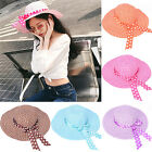Women Beach Hat Lady Cap Wide Large Brim Floppy Fold Summer Sun Straw Hat New
